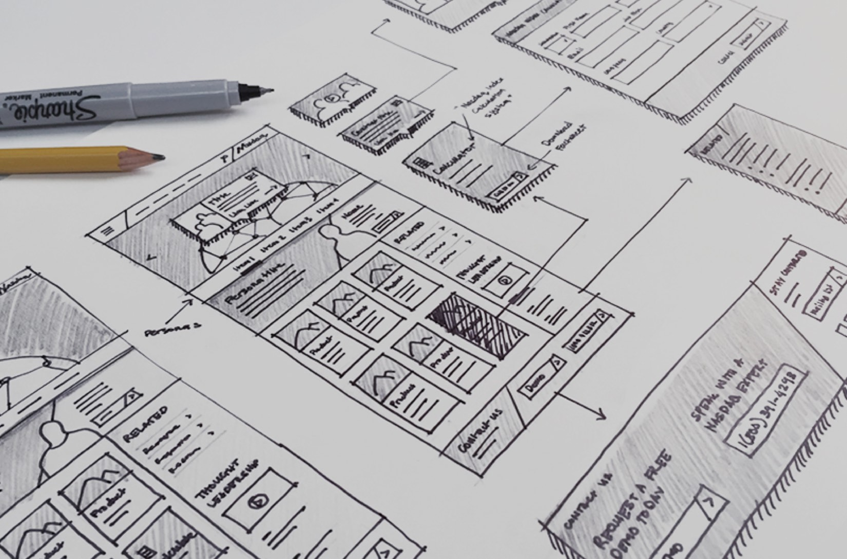 sketch and wireframing