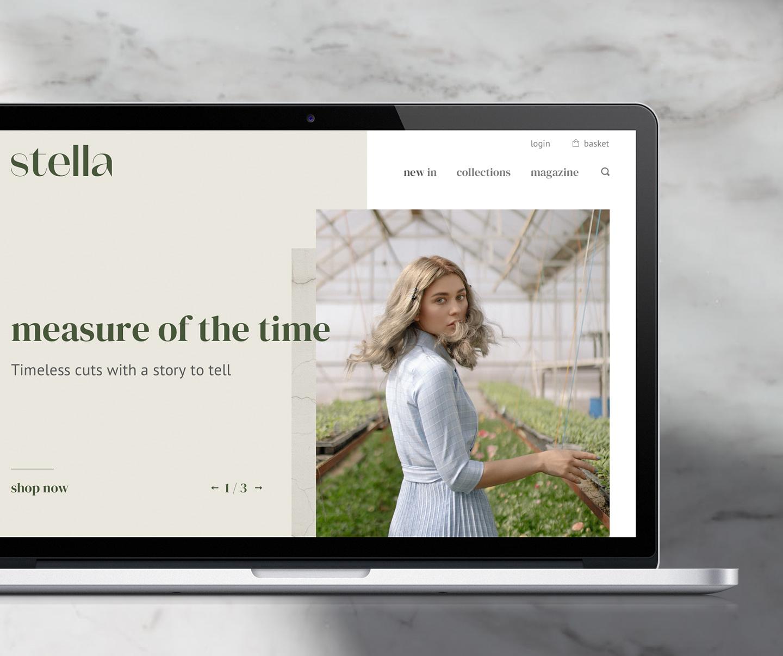 stella homepage fashion website