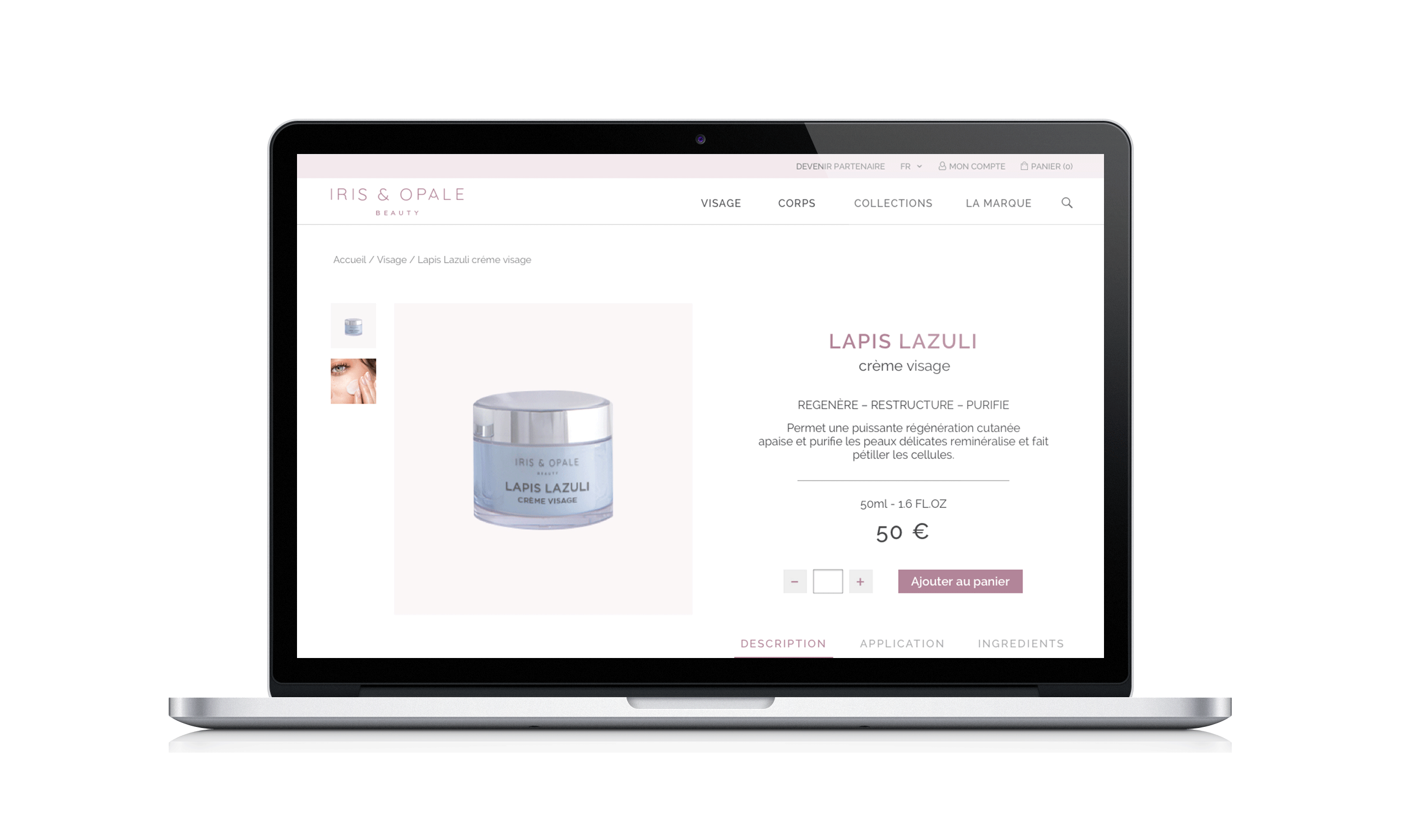 Iris & opale product page