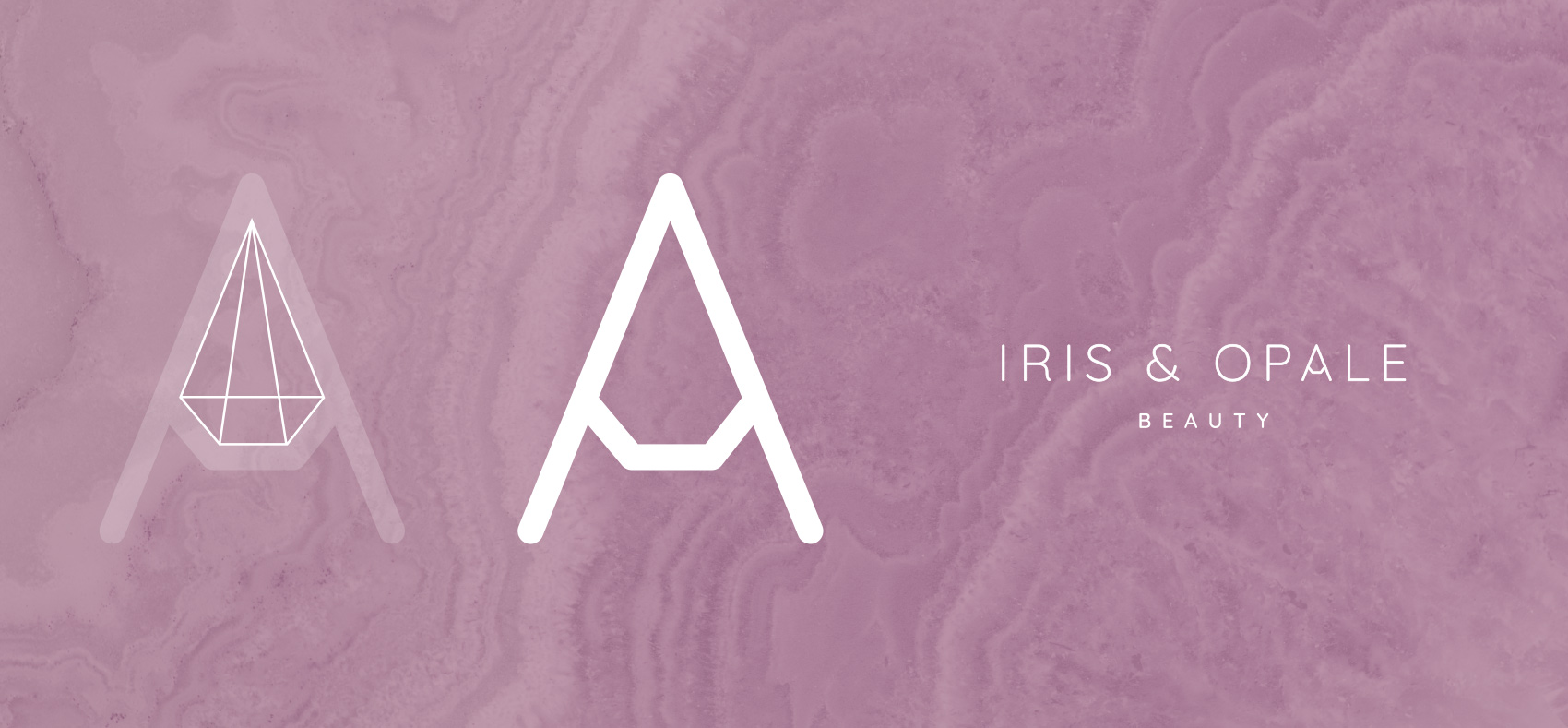 iris & opale logo construction