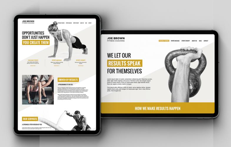 Website design in iPad screens
