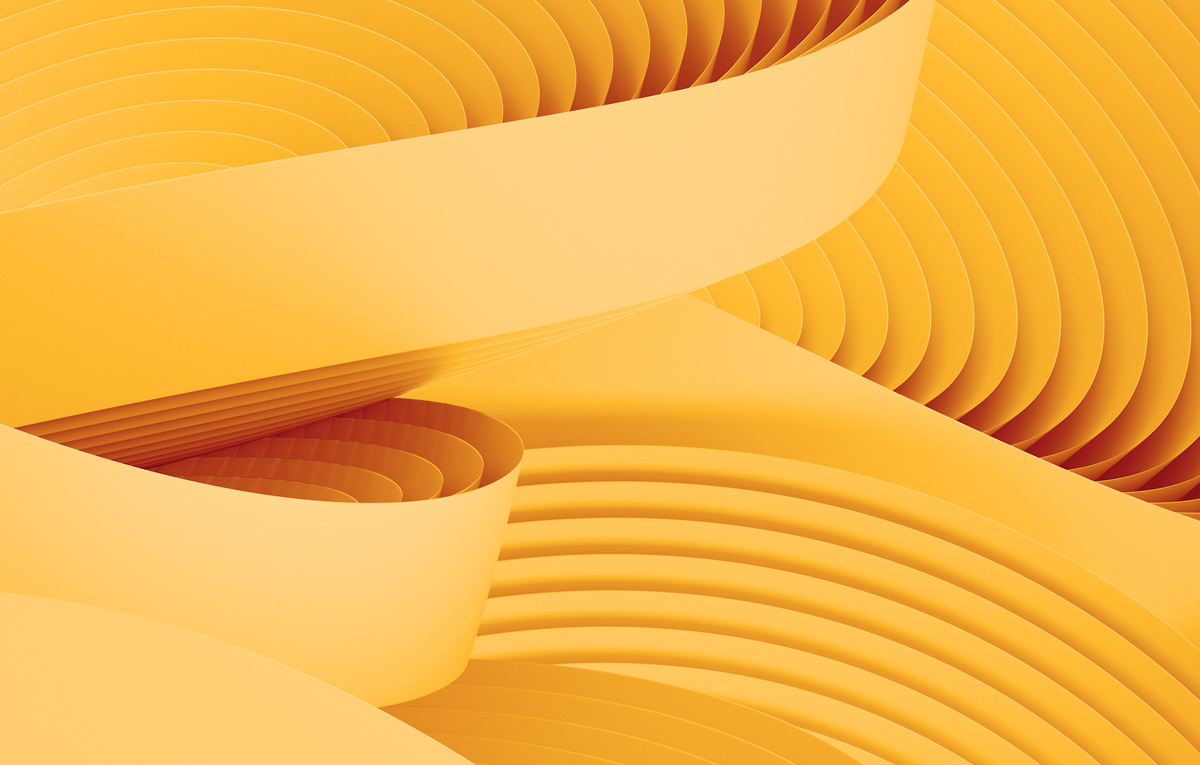 abstract background of yellow curves