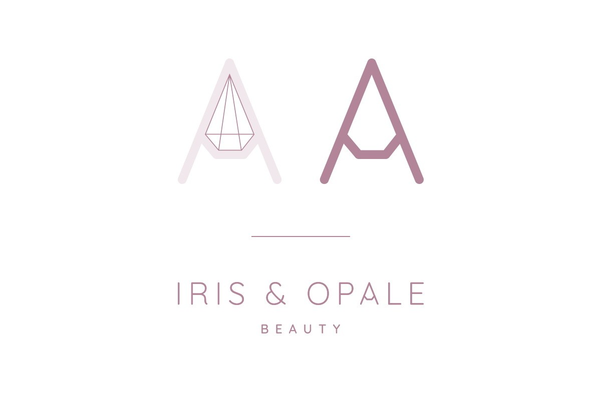 Research on the letter A of the logo Iris & Opale