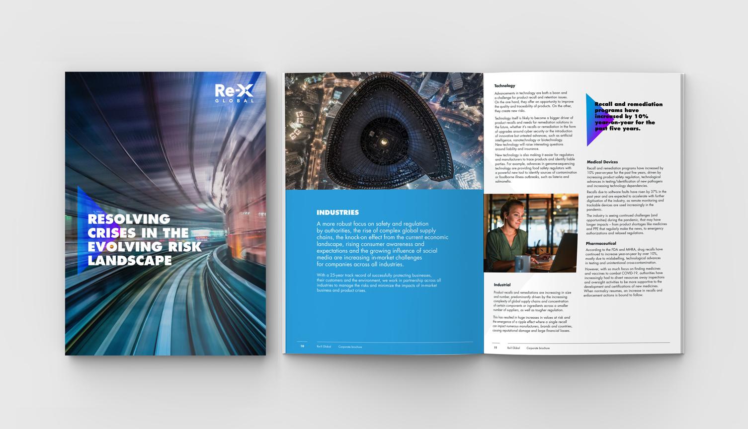 Re-x corporate brochure design