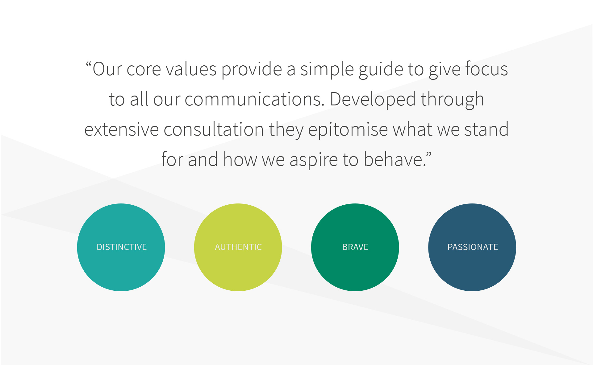 Alexander mann brand guidelines values page
